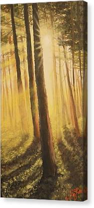 Canvas Print featuring the painting Blinded by Dan Wagner