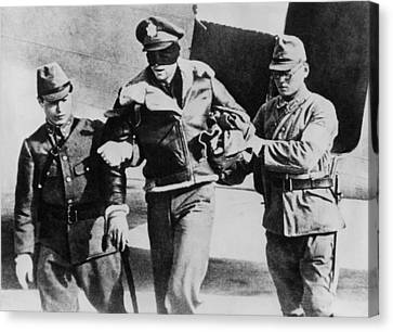 Blindfolded U.s. Lt. Robert Hite, Pow Canvas Print by Everett