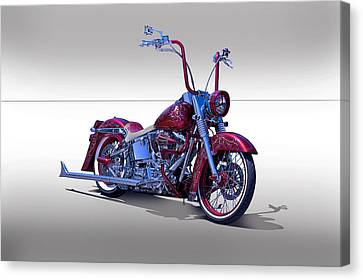 Bling Bling Studio Bike Canvas Print by Dave Koontz