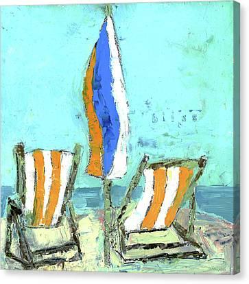 Bliss Beach Chairs Canvas Print
