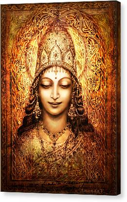 Blissful Goddess Canvas Print by Ananda Vdovic