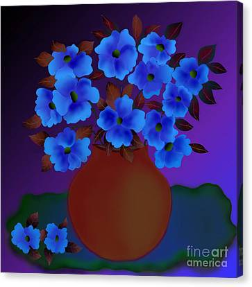 Canvas Print featuring the digital art Blissful by Latha Gokuldas Panicker