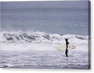 Blizzard Surfing Canvas Print