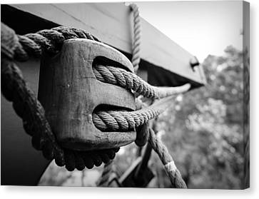 Block And Tackle Canvas Print by Michael Donahue