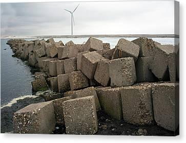 Block Dam Canvas Print by Dirk Wiersma