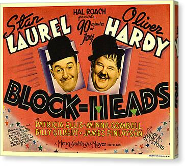 Block Heads Canvas Print by Studio Release