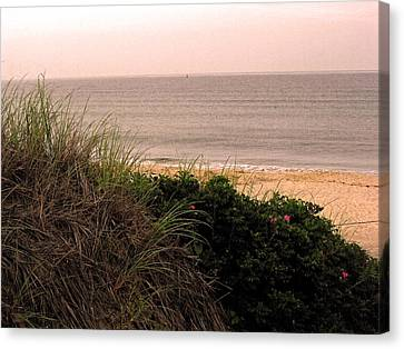 Canvas Print featuring the photograph Block Island Beach by Dawn Romine