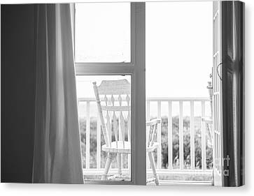 Screen Doors Canvas Print - Block Island Beach House View by Diane Diederich