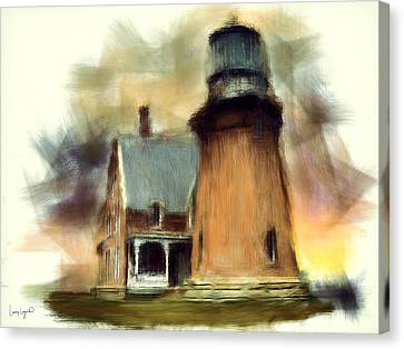 Block Island Light Canvas Print by Lourry Legarde