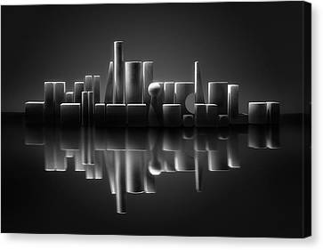 Symbolism Canvas Print - Blockville On The Lake by Louis-philippe Provost