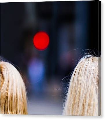 Blondes Are Not Allowed 2 - Featured 3 Canvas Print by Alexander Senin