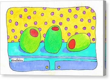 Toon Canvas Print - Blondheim Art Toons Olives by Linda Blondheim