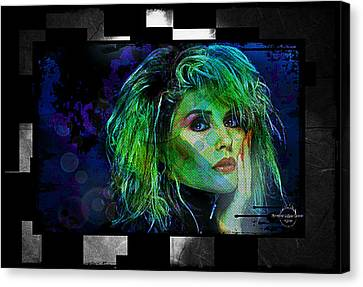 Blondie - Debbie Harry Canvas Print by Absinthe Art By Michelle LeAnn Scott