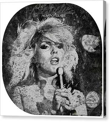 Blondie - Heart Of Glass Canvas Print by Absinthe Art By Michelle LeAnn Scott