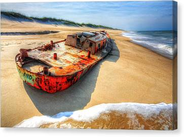 Blood And Guts II - Outer Banks Canvas Print by Dan Carmichael