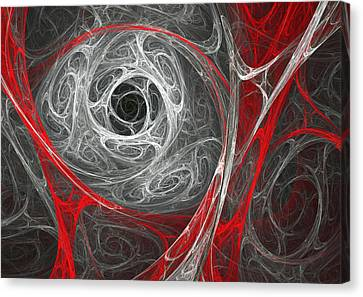 Winter Storm Canvas Print - Blood And Snow Blizzard by Martin Capek