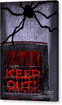 Blood And Spider Canvas Print
