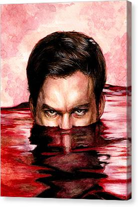 Blood Bath Canvas Print by Lanie McCarry