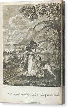 Haitian Canvas Print - Blood Hounds Attacking by British Library