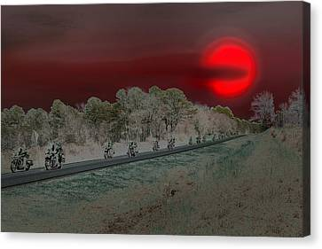 Blood Moon And Speed Canvas Print by Nina Fosdick