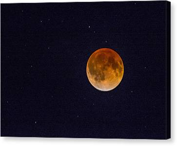 Blood Moon And Stars Canvas Print