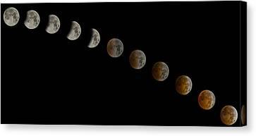 Blood Moon Eclipse Canvas Print