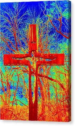 Canvas Print featuring the photograph Blood On The Cross by Cathy Shiflett