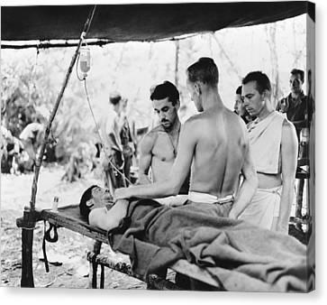 Clayton Canvas Print - Blood Plasma Transfusion, World War II by Science Photo Library