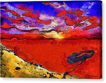 Blood River Canvas Print by George Rossidis