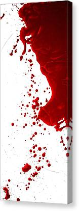 Blood Splatter  Canvas Print by Holly Anderson