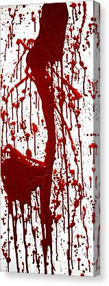 Blood Splatter II Canvas Print by Holly Anderson