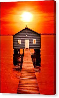 Sheds Canvas Print - Blood Sunset by Az Jackson