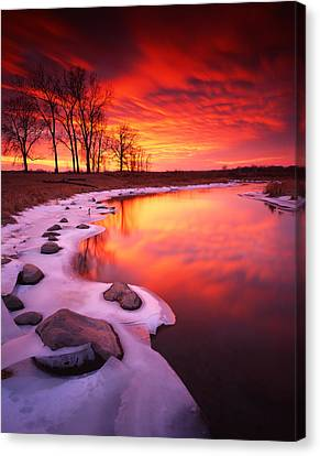 Blood Sunset Canvas Print by Ray Mathis