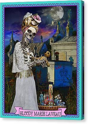 Bloody Marie Laveau Canvas Print by Tammy Wetzel