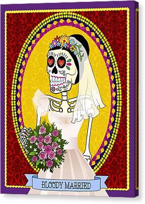Bloody Married Canvas Print by Tammy Wetzel