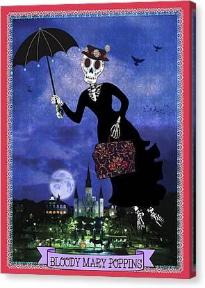 Bloody Mary Poppins Canvas Print by Tammy Wetzel
