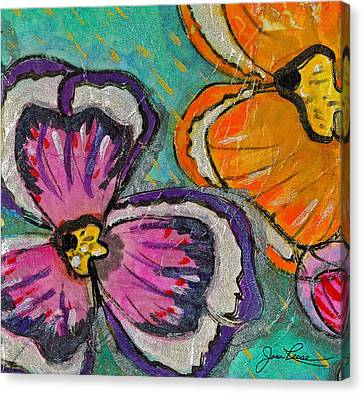 Canvas Print featuring the painting Blooming Flowers by Joan Reese