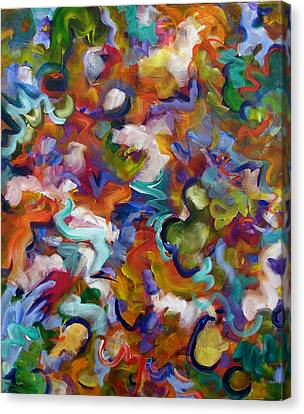 Canvas Print featuring the painting Blooming Joy by Lynda Lehmann