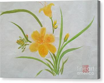 Blooming Lily Canvas Print