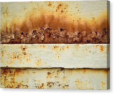 Blooming Rust On An Iron Plate Canvas Print