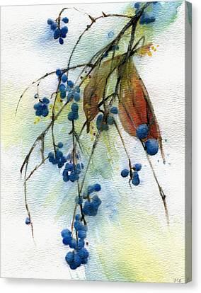 Bloomington Indiana Berries Canvas Print by John Christopher Bradley