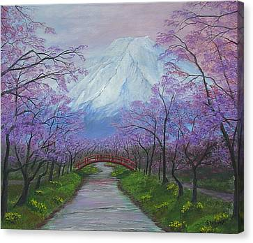Blooms Of Fuji  Canvas Print
