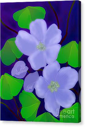 Canvas Print featuring the digital art Blooms Of Good Luck by Latha Gokuldas Panicker