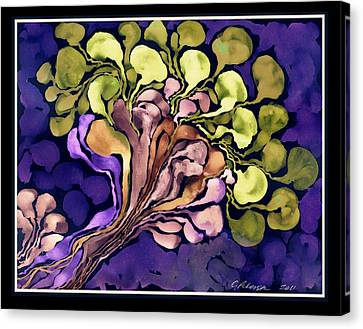 Blossom Of Spring    Purple Canvas Print by Cathy Peterson