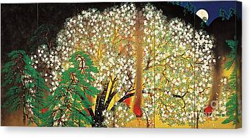 Blossoming Nihonga  Canvas Print by Pg Reproductions