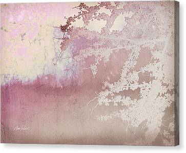 Blossoming Red Bud In Pink  Canvas Print by Ann Powell