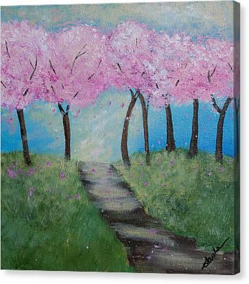 Blossoming Canvas Print by Sasha Moye