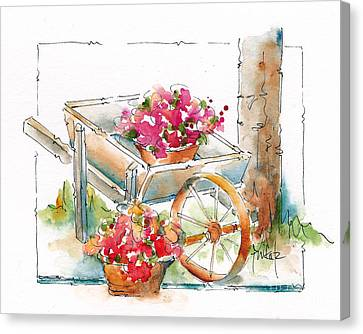 Blossoms To Go Canvas Print by Pat Katz