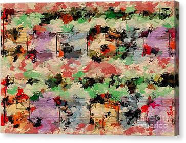 Canvas Print featuring the digital art Blotched Up Divertimento 1 by Lon Chaffin