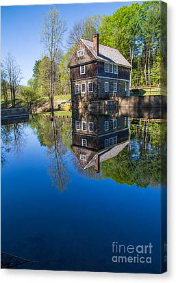 Historic Site Canvas Print - Blow Me Down Mill Cornish New Hampshire by Edward Fielding